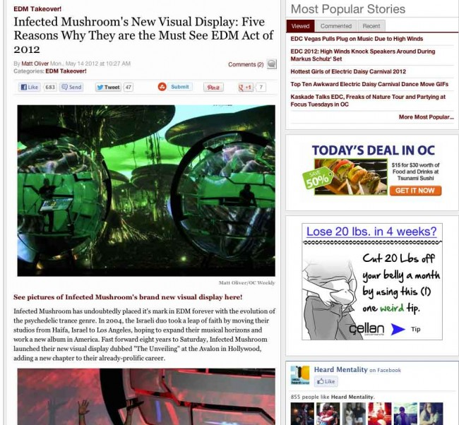 OC Weekly: Infected Mushroom's New Visual Display: Five Reasons Why They are the Must See EDM Act of 2012
