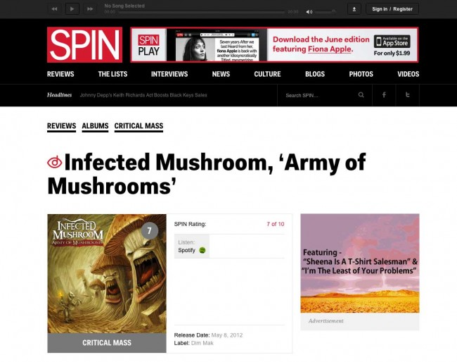Spin.com: My 5 Favorite Things: Infected Mushroom