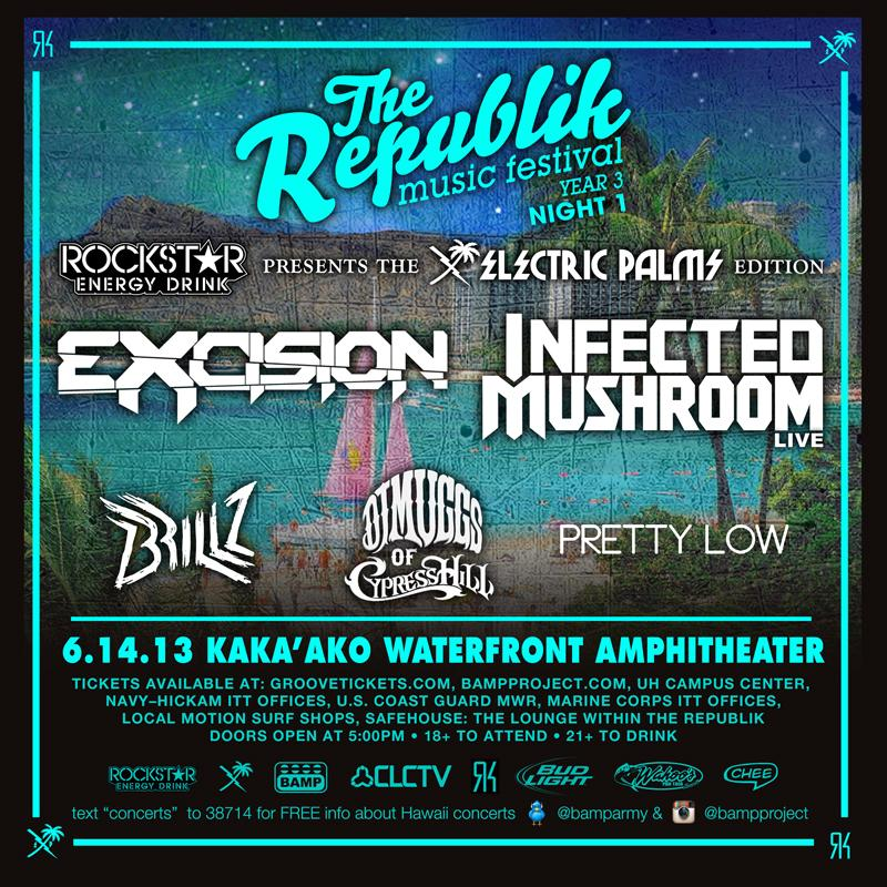 Infected Mushroom @ USA, Honolulu (HI) - The Republik Music Festival 2013a flyer